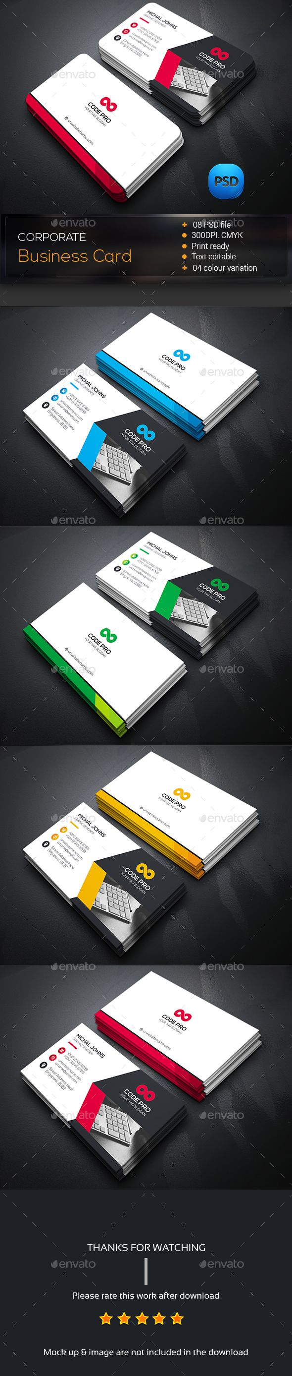 Creative Business Card Template PSD #design Download: http://graphicriver.net/item/creative-business-card/14535859?ref=ksioks