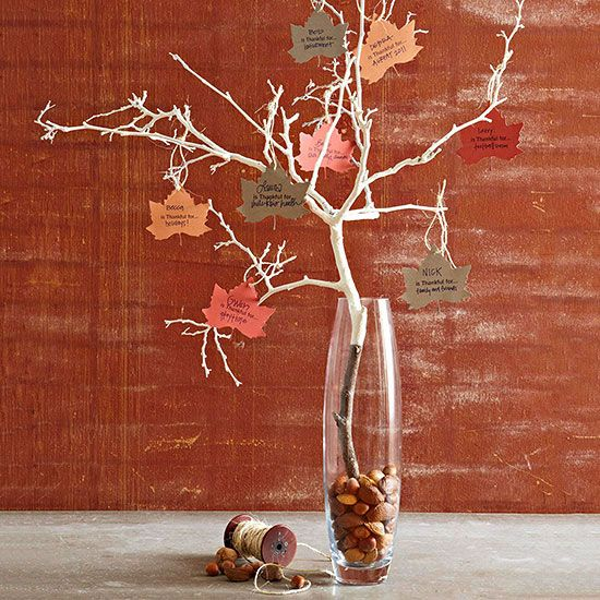 Thankful Tree: I really like this idea! If you make yourself add a leaf a day, it will force you to take time and really think about how blessed you are :-)