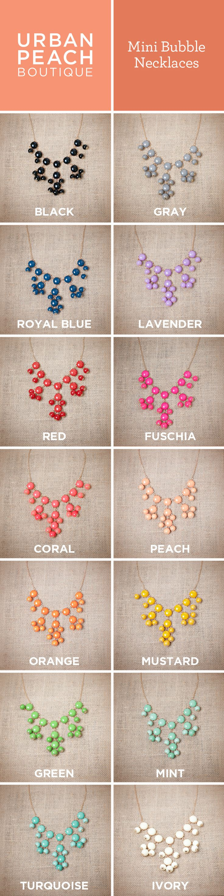 Mini Bubble Necklaces! Tons of colors!!