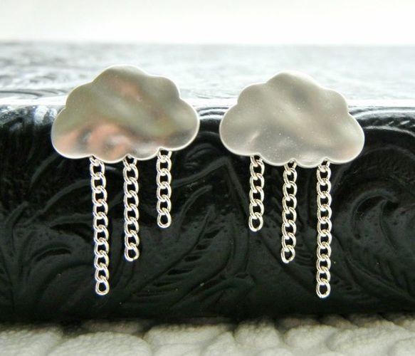 Silver Raincloud Earrings Uncovet
