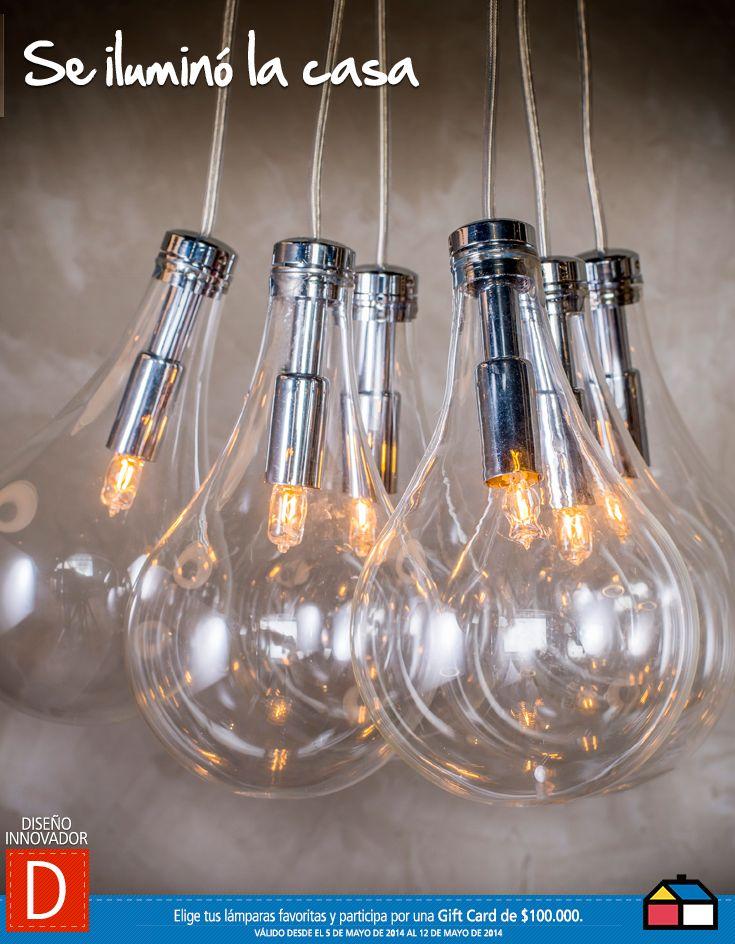 Con esta hermosa lámpara y muy a la moda fijo Se iluminó la casa #Concurso #homecenter #sodimac