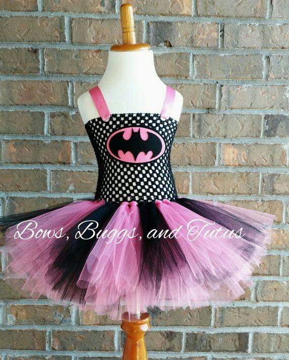 Pink and black batman batgirl tutu batgirl by BowsBuggsandTutus