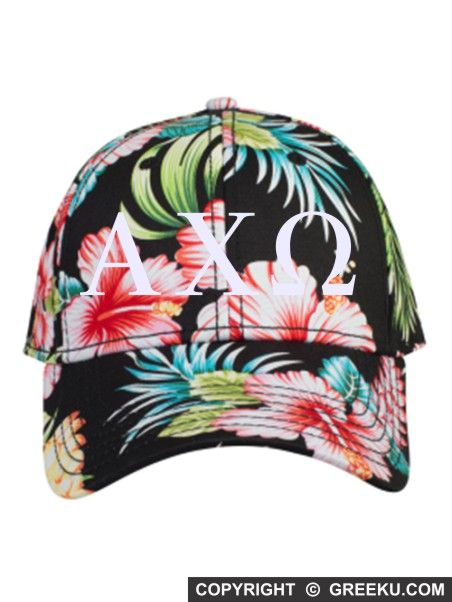 Sorority Roman Letters Embroidered Hawaiian Hat | Greek U | Customize the thread color and the sorority name. Minimum 12. Order now! http://www.greeku.com/sorority/merchandise/hats/embroidered-hats/roman-letters-embroidered-hawaiian-hat/