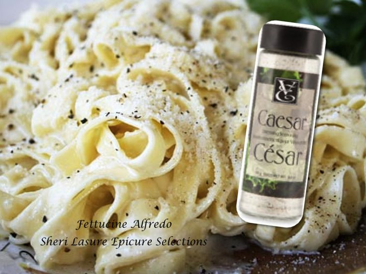 Fettuccine Alfredo - Just like my Grandma used to make... wink wink, except I add my secret ingredient to the sauce.. drum roll please... Epicure's Caesar Salad Dressing!  Yes, just add a couple of tablespoons into your butter, cream & cheese mixture & voila, you'll have the BEST Alfredo Sauce ever!