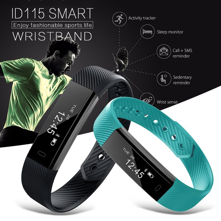 ID115 Sport Smart Bracelet Fitness Tracker Smart band Waterproof Sleep Monitor Step Counter Bluetooth Wristband for IOS Android //Price: $22.36      #sale