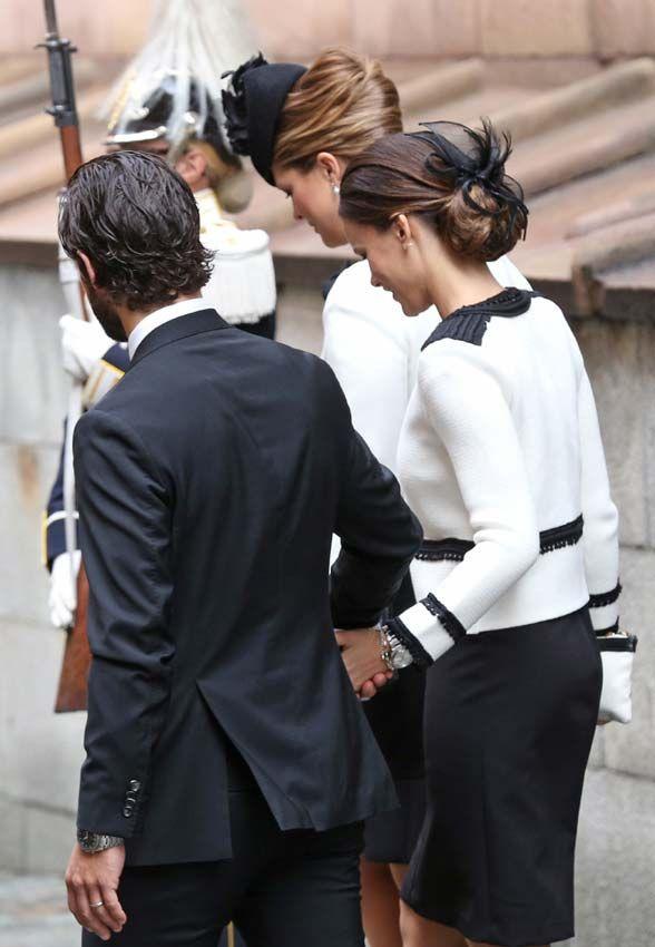 Esta fue la primera comparecencia en un evento oficial del príncipe Carlos Felipe y Sofia desde su boda