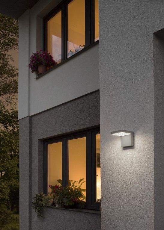 VECINO seinävalaisin hopeanharmaa LED 25x0.2W IP54 3000K « LED SEINÄVALAISIMET « Laatuled