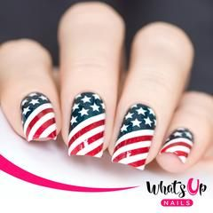 Whats Up Nails - American Flag Stencils