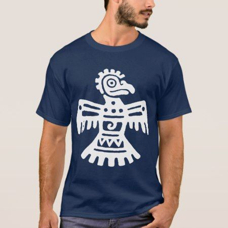 White Primitive Aztec Bird Symbol Southwestern T-Shirt - tap to personalize and get yours
