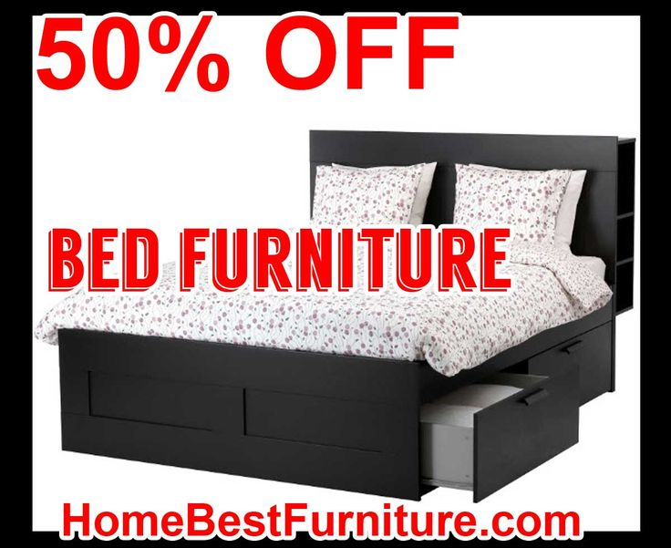 50 PERCENT OFF DISCOUNT BRIMNES Queen Size Bed Frame with storage