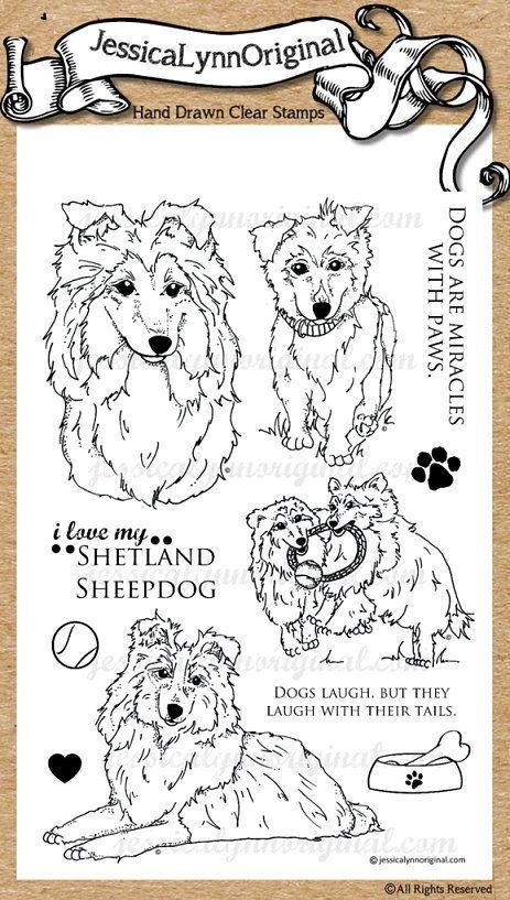 * JessicaLynnOriginal Dog: Shetland Sheepdog Sheltie Clear Rubber Stamp Set - JessicaLynnOriginal, LLC #DogStamps #Sheltie #ShetlandSheepdog #Pup #DogRescue #JessicaLynnOriginal http://www.jessicalynnoriginal.com/search.php?search_query=sheltie