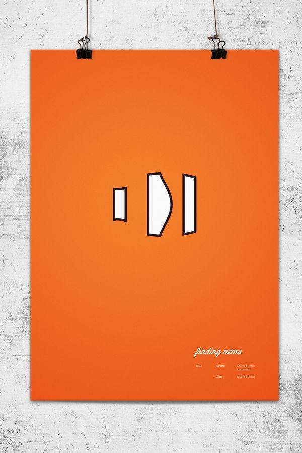 posters disney pixar minimalista: Minimalist Posters, Movie Posters, Minimalist Pixar, Posters Design, Pixar Minimalist, Pixar Posters, Pixar Movie, Wonchan Lee, Finding Nemo