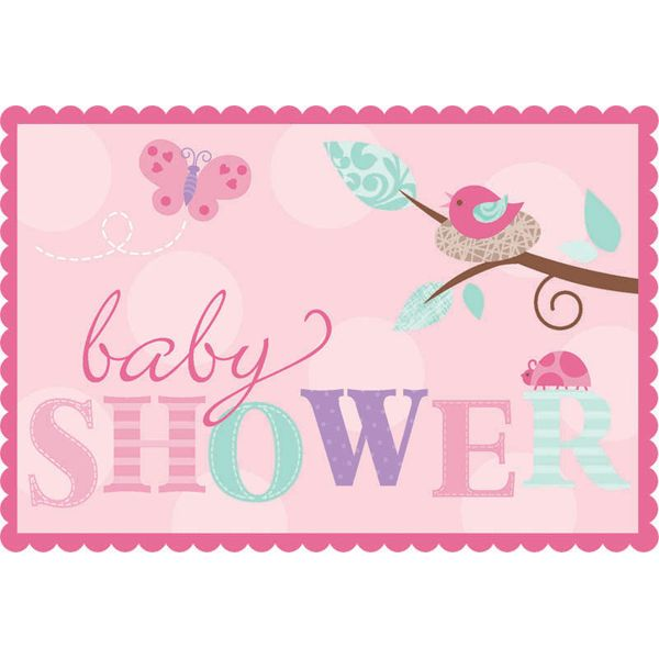 Baby Shower For Girls | Tweet Baby Girl Invitations 8ct For Your Baby Shower  Go Pink