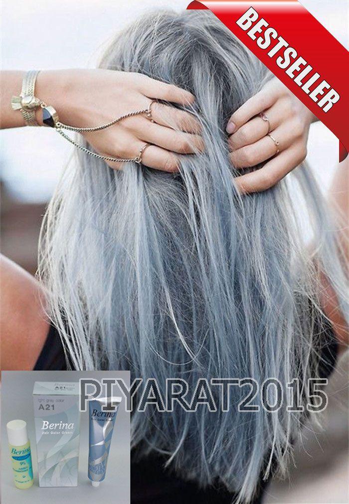 Details about Berina A21 Light Grey Silver Permanent Hair Dye Color Cream Unisex – Punk Style