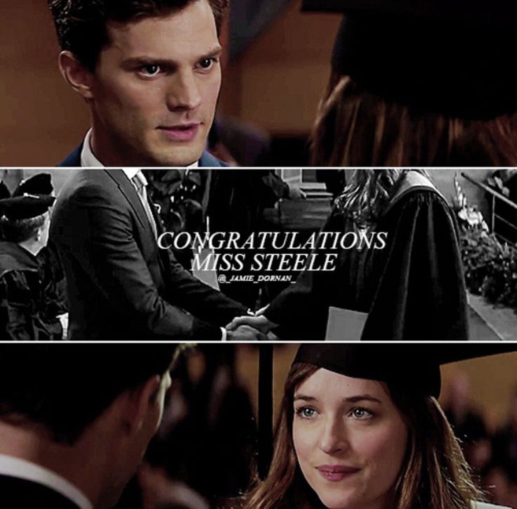 Fifty Shades the movie / congratulations Miss Steele / Christian Grey / Anastasia Steele
