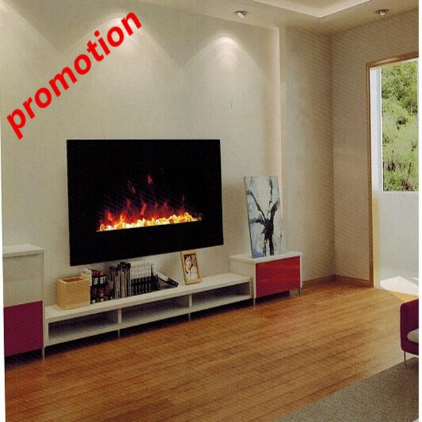 Free shipping to Indonesia wall mounted electric fireplace with led light