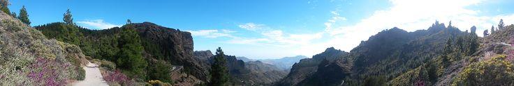 Roque Nublo: is volcanic rock in  #Tejeda,  _Gran Canaria, Canary Island #Spain