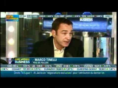 Good Morning Business du 24 janvier Interview de Marco Tinelli, pdg de FullSIX par Stéphane Soumier     Marco Tinelli, pdg de FullSIX, est invité à analyser les derniers évènements qui sont survenus dans le monde des médias numériques et notamment la fermeture de Mega upload, les hackings des Anonymous, le renouveau de la publicité dans les nouveaux médias...