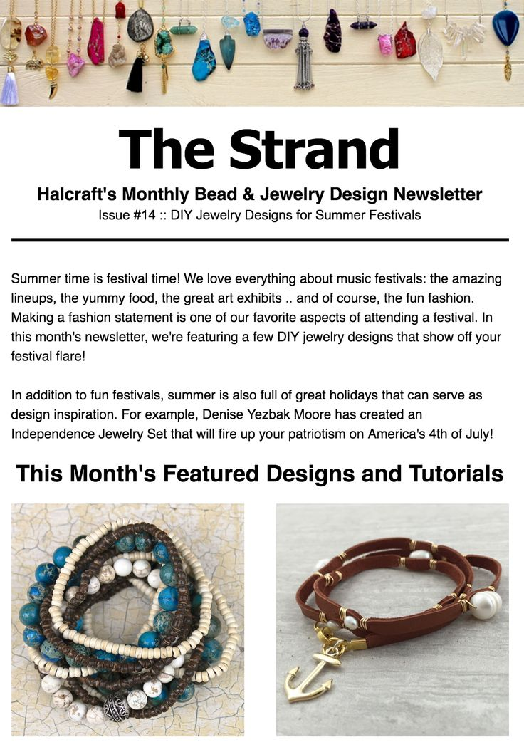 Best The Strand  Halcraft Beads Monthly Newsletter Images On