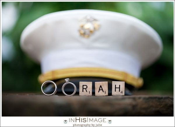 Marine Corps Wedding Day..OORAH..is what they say in the marines! love this! for isabella