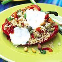 Recept - Paprika gevuld met couscous - Allerhande