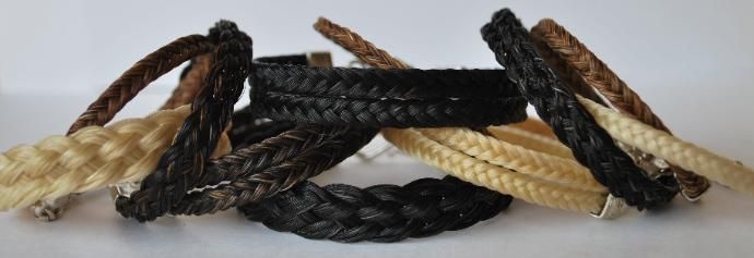 Horse Hair Bracelets made from your own favorite horse's hair!