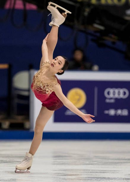 Marin Honda Of Japan Compete In The Ladies Free Skating On