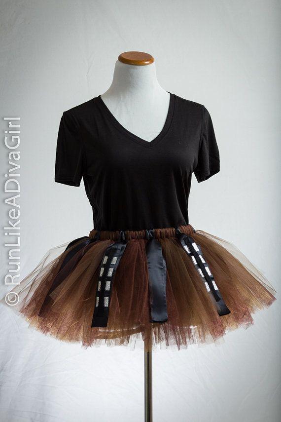Run Disney Star Wars Chewbacca, Chewie inspired Running Tutu, Running Skirt by RunLikeADivaGirl