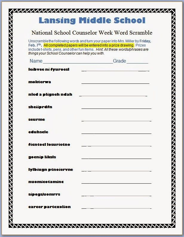 Best National School Counseling Week Images On