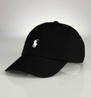 black polo baseball cap with white pony polo by ralph. Black Bedroom Furniture Sets. Home Design Ideas
