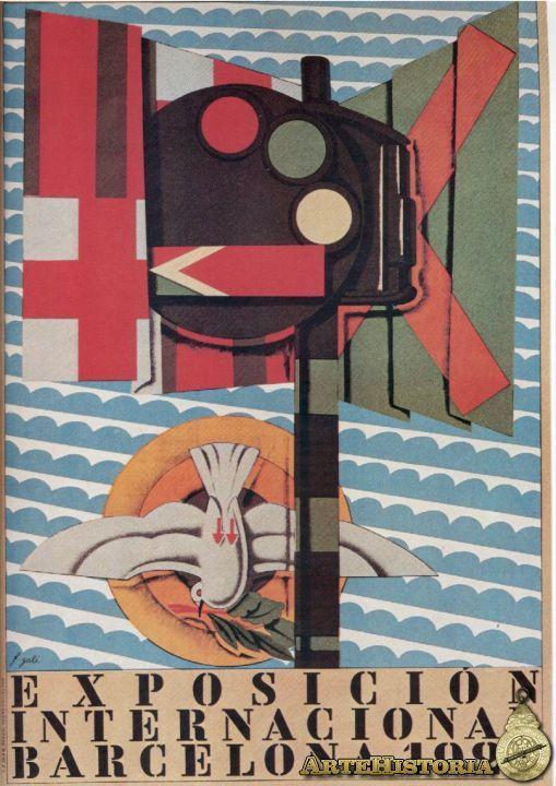 Cartel exposición Barcelona 1929