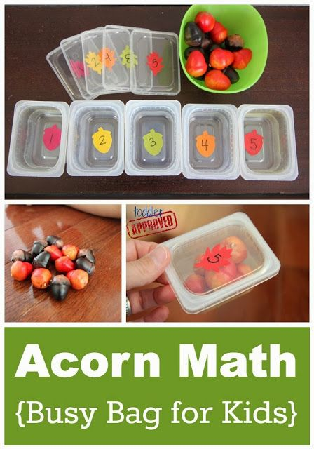 Toddler Approved!: Acorn Math {Busy Bag for Kids}