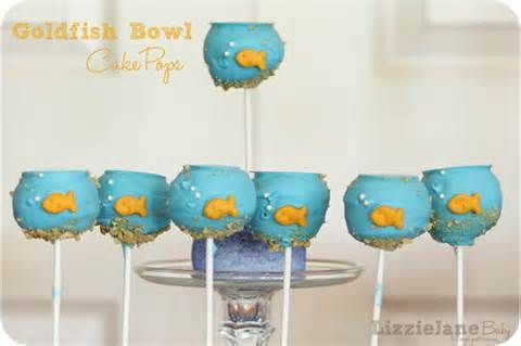 Adorable Goldfish Cake Pops For Mr C S Birthday Party