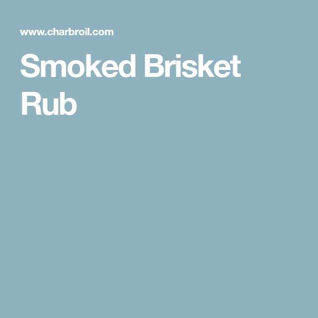 Smoked Brisket Rub