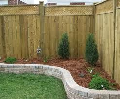 raised bed at fence