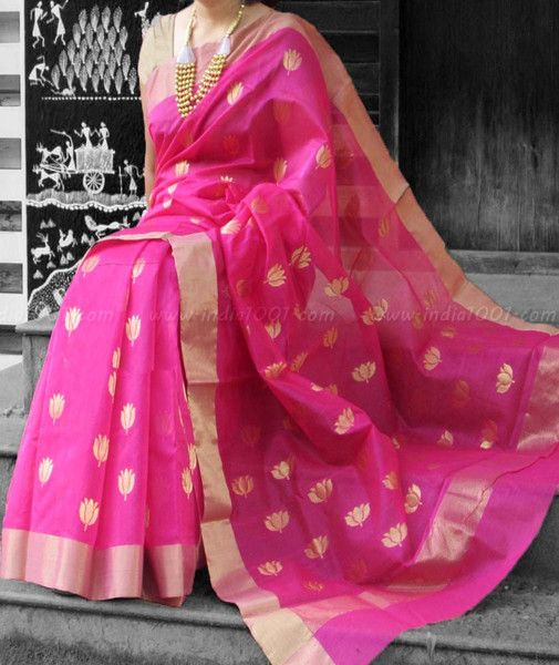 Designer Handcrafted Chanderi Saree  #Chanderi #Sarees