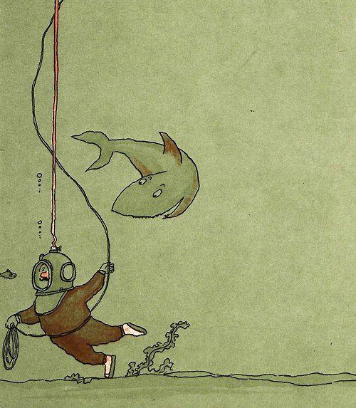 "¤ Illustration for ""Emile"" (1960) by French  illustrator & writer Tomi Ungerer (b.1931)."