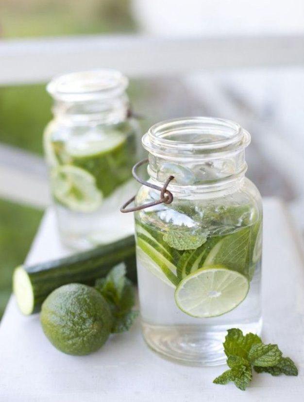 Concombre, citron vert et menthe