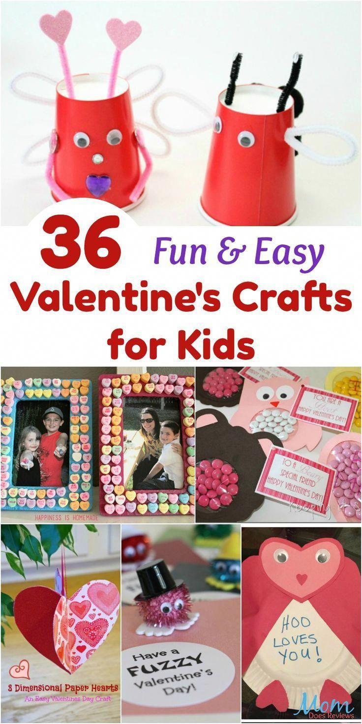 36 Fun Easy Valentine S Crafts For Kids Valentinecrafts