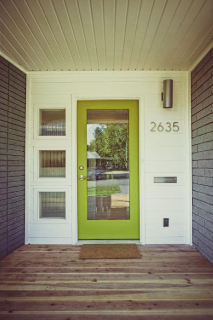 Best Of Mid Century Modern Entry Doors