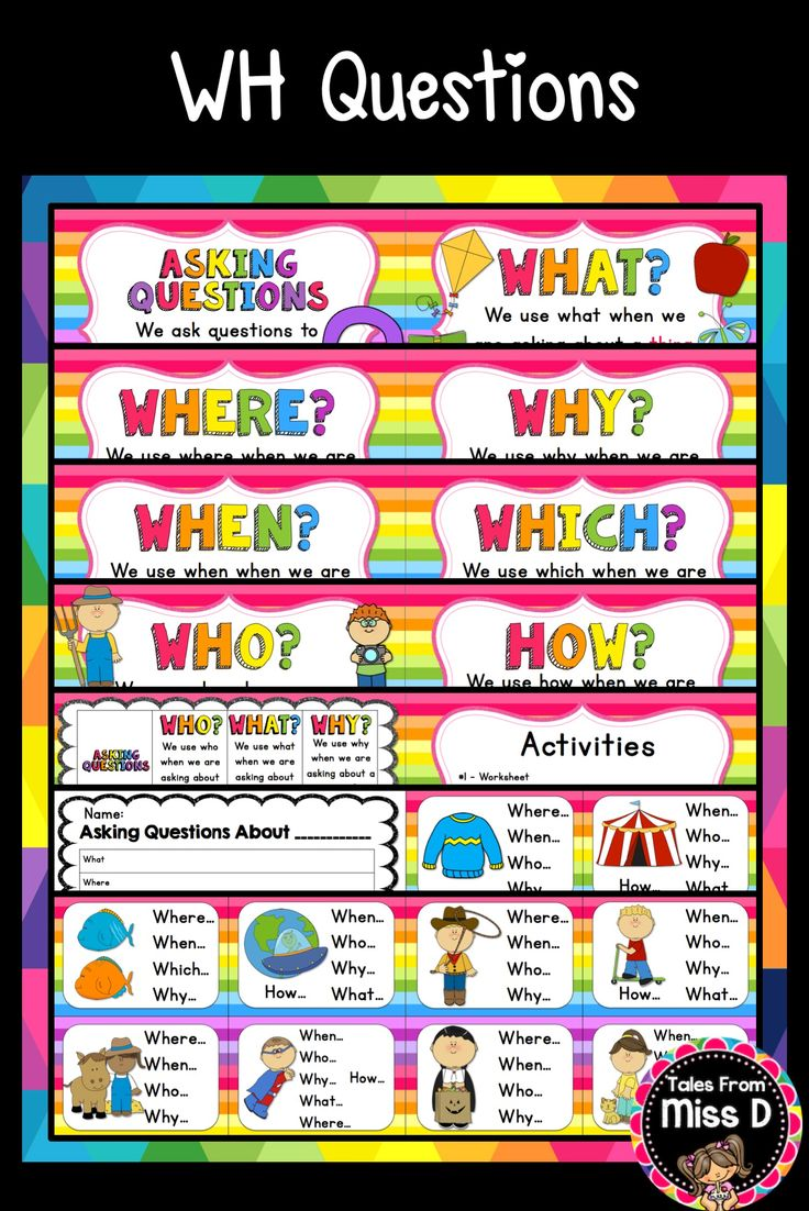 260 best Question Words Plans images on Pinterest | Wh questions ...
