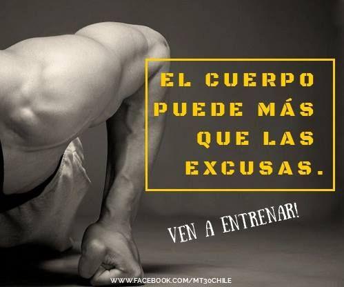 EL CUERPO PUEDE MÁS QUE LAS EXCUSAS #Entrenamiento #HIIT #perderpeso http://www.mt30.cl