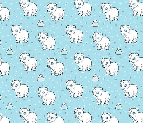Cuddly Baby Polar Bear fabric by nossisel on Spoonflower - custom fabric