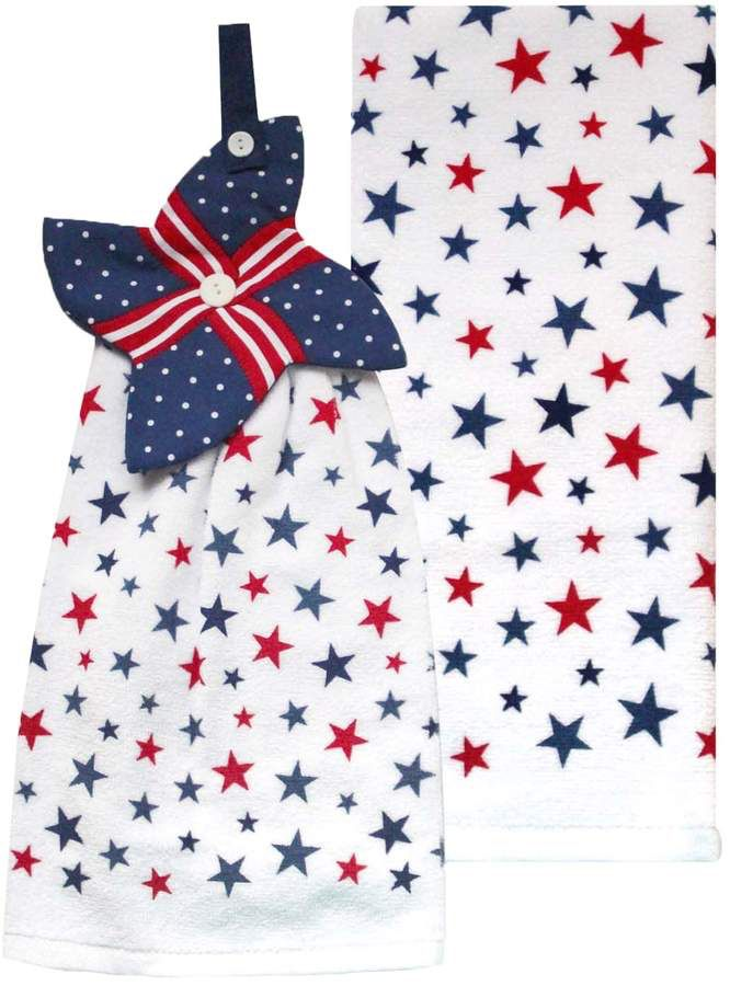 Celebrate Americana Together Pinwheel Kitchen Towel 2 Pack Fourth