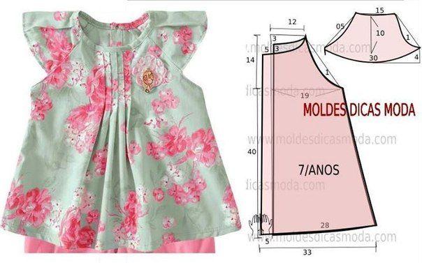 Vestidos para niñas y bebes con moldes07