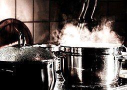 Keuken, Koken, Pannen, Kookpot, Stoom