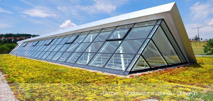 Ekrost - Zelené střechy Optigreen
