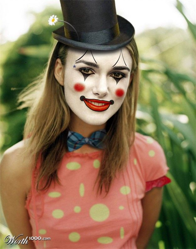 Keira Knightley (photoshop competition) http://www.worth1000.com/contests/7995/clowning-around-6#