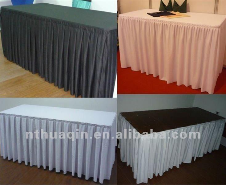 Юбка скатерть на свадебный стол