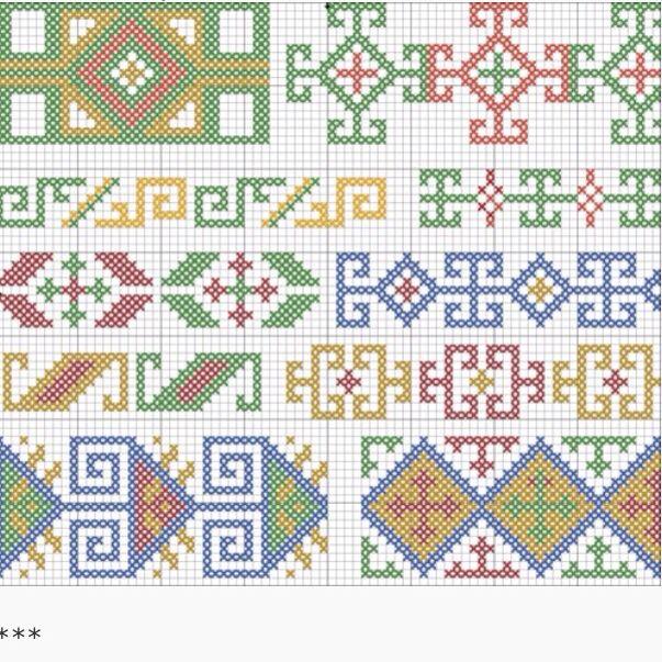 19 besten Georgian national folk cross stitch patterns Bilder auf ...